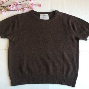 Emanuel Ungaro Brown Cashmere Short Sleeve Top